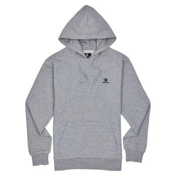 Converse EMBROIDERED STAR CHEVRON PULLOVER HOODIE FT, muški pulover, siva