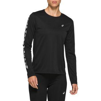 Asics KATAKANA LS TOP, ženska majica za trčanje, crna