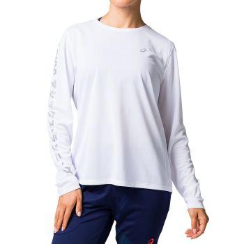 Asics KATAKANA LS TOP, ženska majica za trčanje, bijela