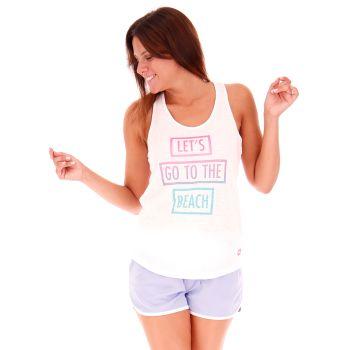 Lotto L73 TANK PL W, ženska majica, bijela