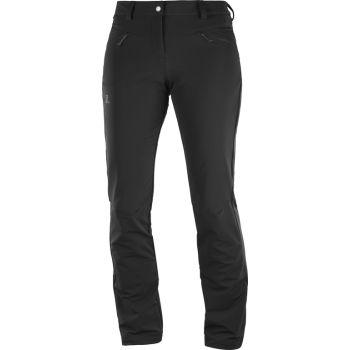 Salomon WAYFARER STRAIGHT WARM PA, ženske planinarske hlače, crna