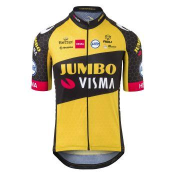 Agu REPLICA SS TEAM JUMBO VISMA 2021, muška majica za biciklizam, žuta