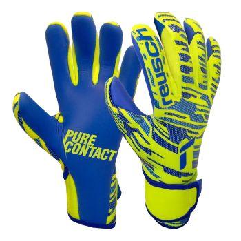 Reusch PURE CONTACT SILVER, dječje nogometne rukavice, žuta