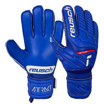 Reusch ATTRAKT SIL, dječje nogometne rukavice, plava