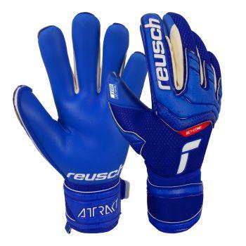 Reusch ATTRAKT GOLD X, muške nogometne rukavice, plava