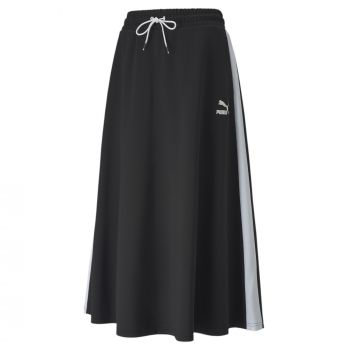 Puma CLASSICS LONG SKIRT, ženska suknja, crna