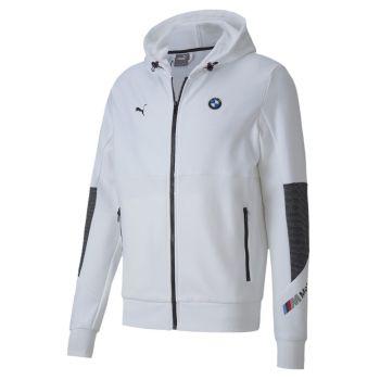 Puma BMW MMS HOODED SWEAT JACKET, muški pulover, bijela