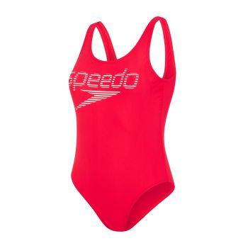 Speedo LOGO DEEP U-BK HI LEG 1PC AF, ženski kupaći kostim jednodjelni, crvena