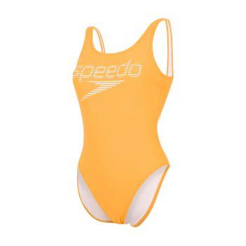 Speedo LOGO DEEP U-BK HI LEG 1PC AF, ženski kupaći kostim jednodjelni, narančasta