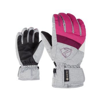 Ziener LEIF GTX, dječje skijaške rukavice, roza