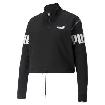 Puma POWER HALF-ZIP CREW TR, ženski pulover, crna