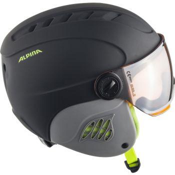 Alpina CARAT LE VISOR HM, dječja skijaška kaciga, crna
