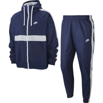 Nike SPORTSWEAR MEN'S HOODED WOVEN, muška trenirka, bijela