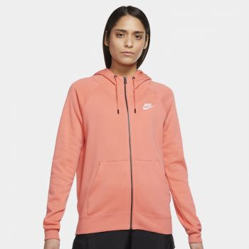 Nike SPORTSWEAR ESSENTIAL FULL-ZIP FLEECE HOODIE, ženska jakna, narančasta