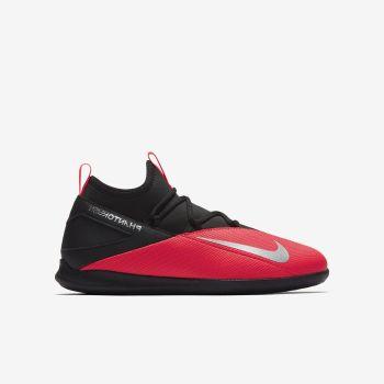 Nike JR PHANTOM VSN 2 CLUB DF IC, dječje tenisice za nogomet, crvena