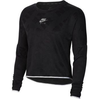 Nike W NK AIR MIDLAYER CREW, pulover, crna