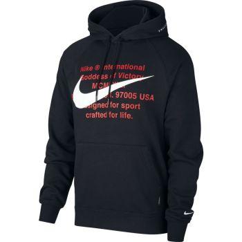 Nike M NSW SWOOSH HOODIE PO FT, muški pulover, crna
