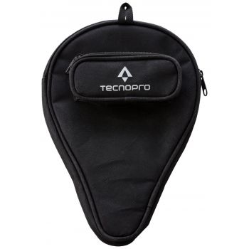 Tecnopro COVER DX BAT WITH BALL POCKET, futrola za reket za stolni tenis, crna
