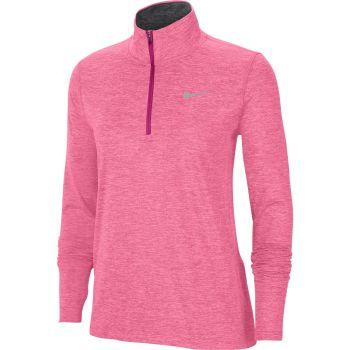 Nike ELEMENT WO 1/2-ZIP RUNNING TOP, ženski puli za trčanje, roza