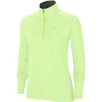 Nike ELEMENT WO 1/2-ZIP RUNNING TOP, ženski puli za trčanje, zelena