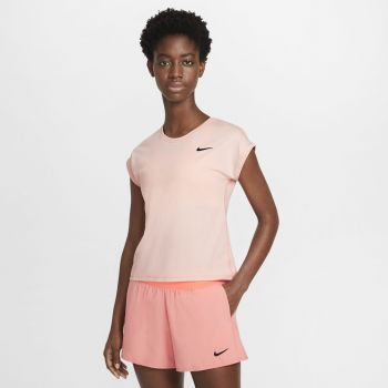 Nike NIKECOURT DRI-FIT VICTORY WO SHORT-SLEEVE TENNIS TOP, ženska majica za tenis, narančasta