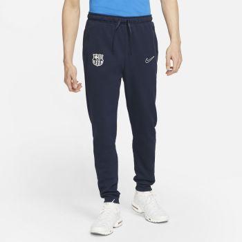 Nike FC BARCELONA DRI-FIT FLEECE SOCCER PANTS, muške hlače, plava