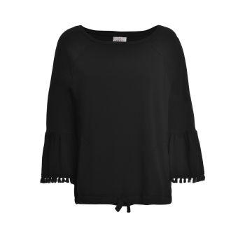 Deha FELPA GIROCOLLO, ženska majica, crna