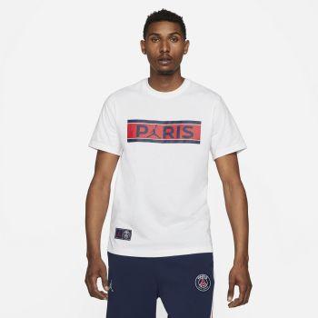 Nike PARIS SAINT-GERMAIN T-SHIRT, muška majica za nogomet, bijela