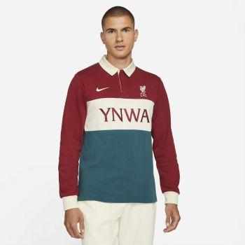 Nike LIVERPOOL FC LONG-SLEEVE SKATE POLO, muški pulover, crvena