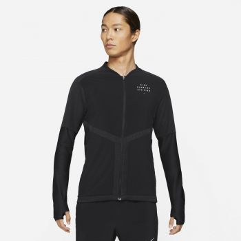 Nike DRI-FIT ELEMENT RUN DIVISION FZ RUNNING TOP, muška majica, crna