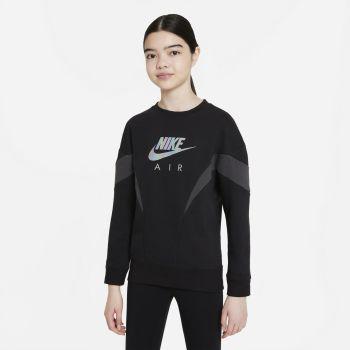 Nike AIR FRENCH TERRY SWEATSHIRT, dječja košulja, crna