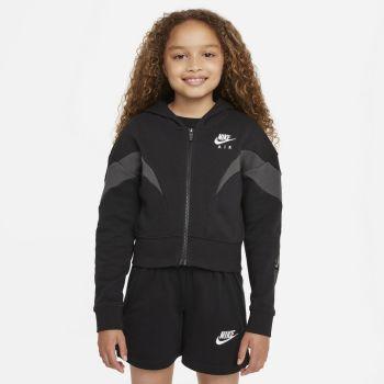 Nike AIR FULL-ZIP HOODIE, dječja jakna za fitnes, crna