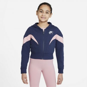 Nike AIR FULL-ZIP HOODIE, dječja jakna za fitnes, plava