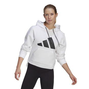 adidas W ST HOODIE, ženski pulover, bijela