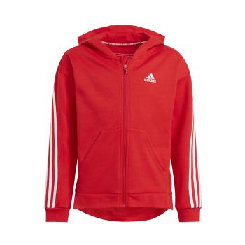 adidas G 3S FZ HD, dječja jakna za fitnes, crvena