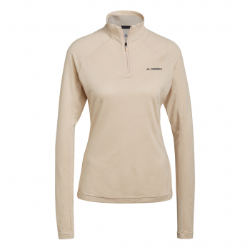 adidas W TRACERO 1/2LS, ženska planinarska majica, bež