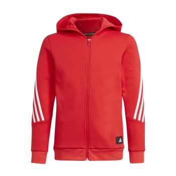 adidas B FI 3S FZ, dječja jakna za fitnes, crvena