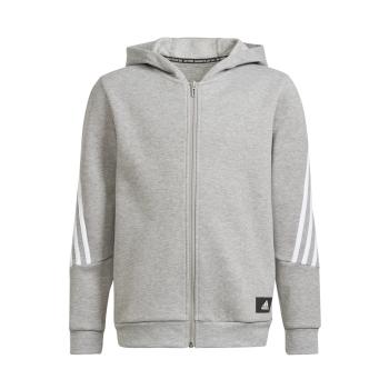 adidas B FI 3S FZ, dječja jakna za fitnes, siva