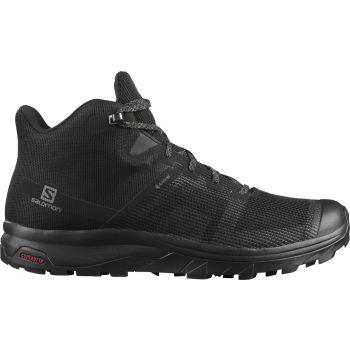 Salomon OUTLINE PRISM MID GTX, muške cipele za planinarenje, crna