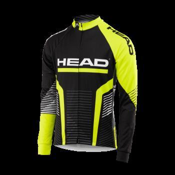 Head LONG SLEEVE JERSEY, muška majica za biciklizam, crna