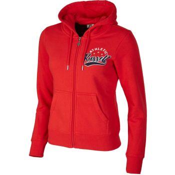Russell Athletic ZIP THROUGH HOODY, ženska jakna, crvena