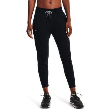 Under Armour RIVAL FLEECE MESH PANT, ženske fitnes hlače, crna