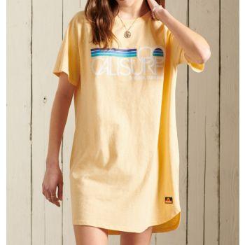 Superdry CALI SURF RAGLAN TSHIRT DRESS, odjeća, žuta