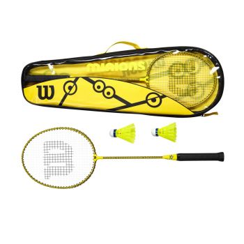 Wilson MINIONS BADMINTON SET, set badminton, žuta