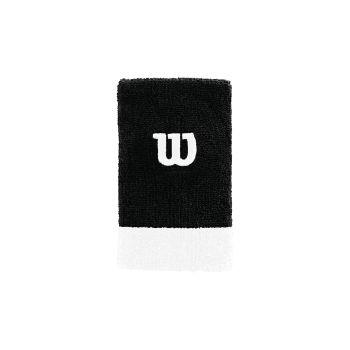 Wilson EXTRA WIDE W WRISTBAND, znojnik teniski, crna