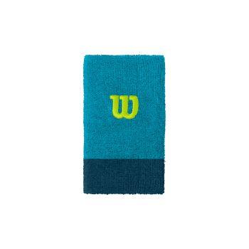 Wilson EXTRA WIDE W WRISTBAND, znojnik teniski, plava