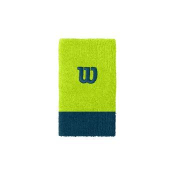 Wilson EXTRA WIDE W WRISTBAND, znojnik teniski, zelena