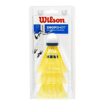 Wilson DROPSHOT SHUTTLECOCKS 3 PACK, loptica za badminton, žuta