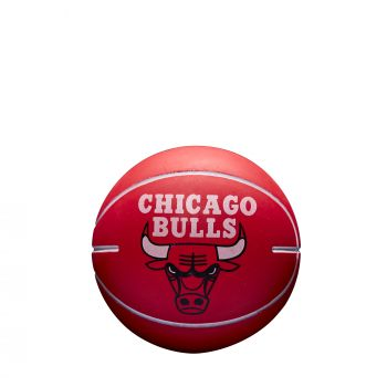 Wilson NBA DRIBBLER CHICAGO BULLS, mini košarkaška lopta, crvena