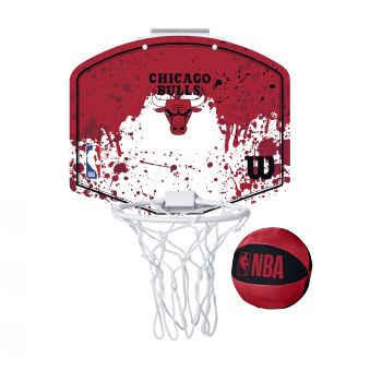 Wilson NBA TEAM MINI HOOP CHICAGO BULLS, tabla s obručem, crvena